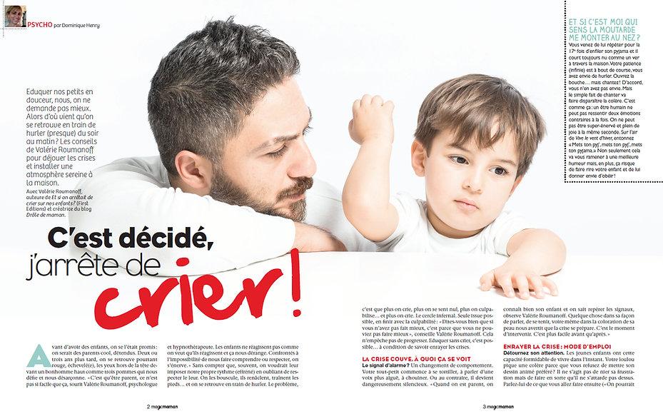 dans magic maman: et si on arretait de crier sur nos enfants?