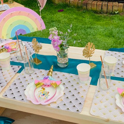 Unicorn Picnic Party Table