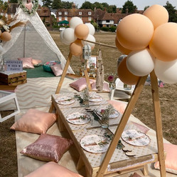 Rose Gold Picnic Table