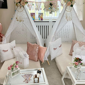 White wigwams for weddings