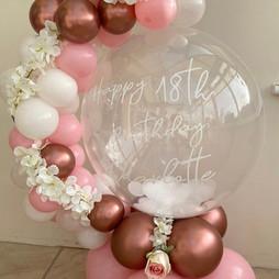 Feather bubble ballon