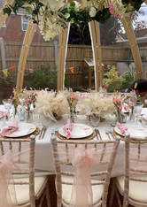 Dome with tablescaping