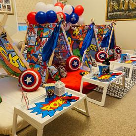 Superhero Teepee Party