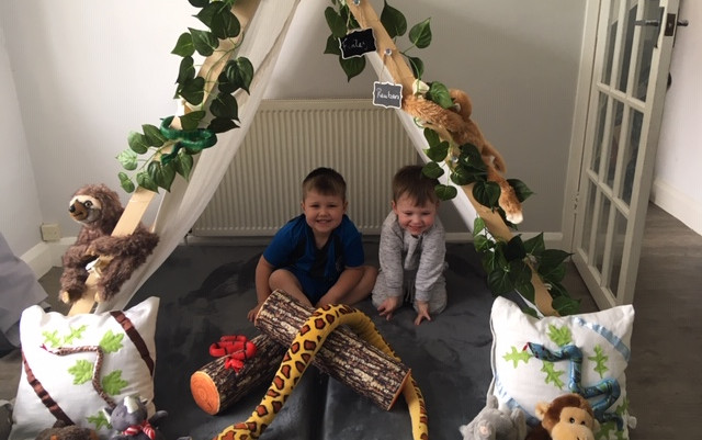 Boys Jungle Campout Bestie Teepee