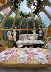 Afternoon tea in our Luxury Dome
