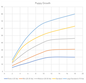 Puppy growth graph