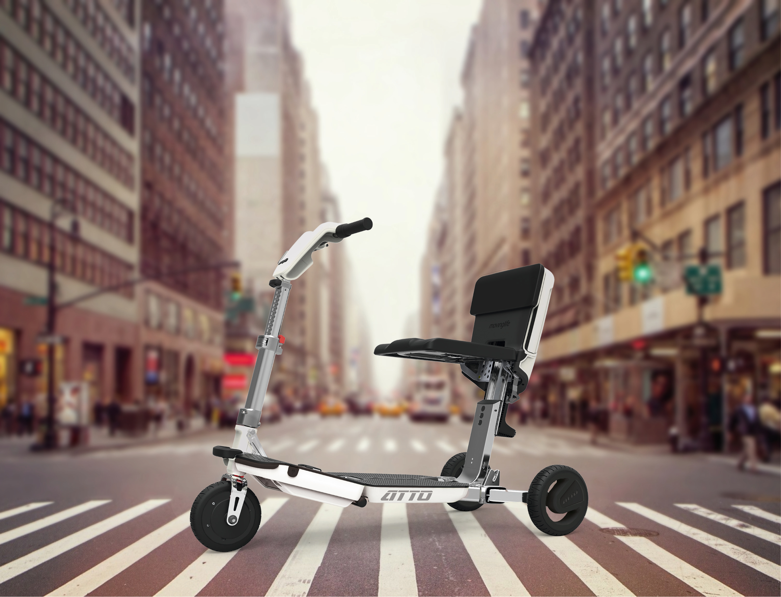 Rollator ATTO Stadt Print