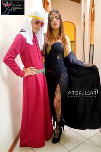 Modelo Valerie junto con el Diseñador Kevin Donnerbauer  Lugar Atelier del Diseñador Kevin Donnerbauer Modas Pegasus @modaspegasus
