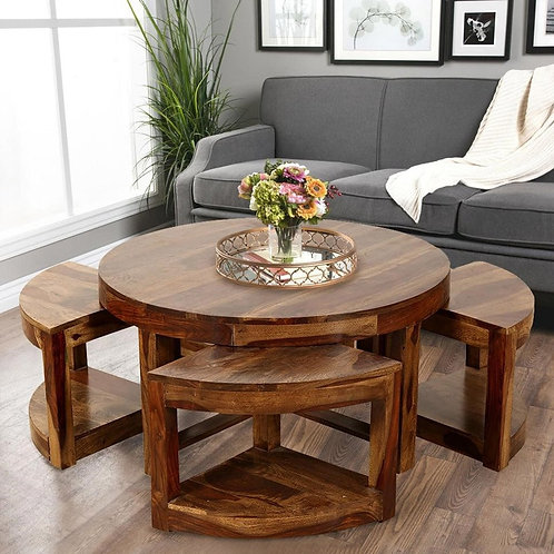 Coffe Table Wooden Stool PAC