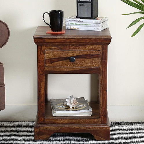 Solid Wooden Bedside Polished Furniture PAC