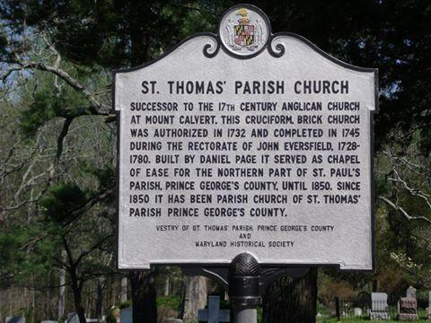St. Thomas' Historical Plaque