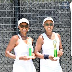 Women's 60 & Over Double finalists: James, Julie / Baker, Carla