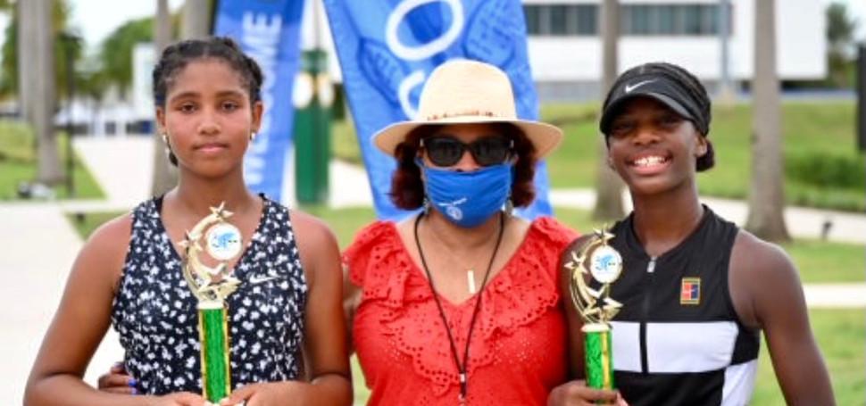 Girls 14U Singles; Adriella Samabaly, Champion & Debra Gil, Finalist