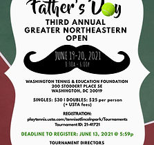 Fathers Day Tennis Tournament Flyer   -v