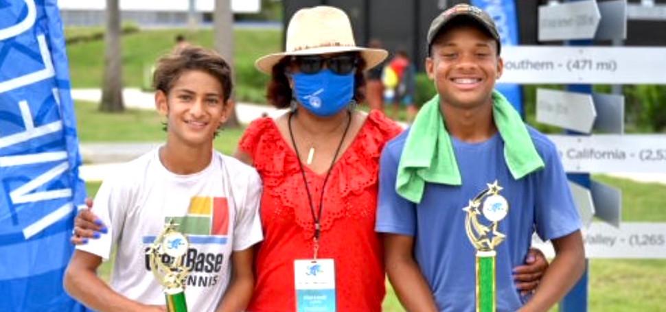 Boys 16 U Singles; Morgan Woodson, Champion & Shay Gupta, Finalist