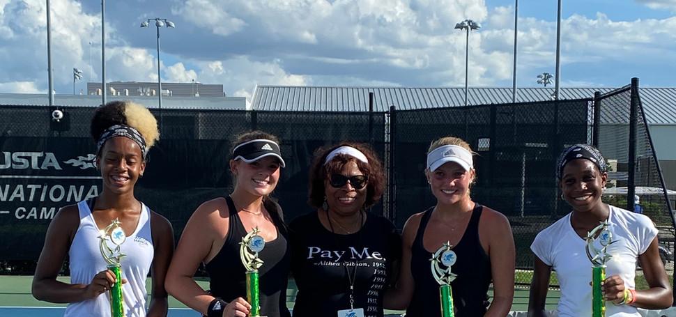 Girls 16U Doubles; A. Maat,  / N. Blanks, Champions & R, Parker / R. Parker, Finalist