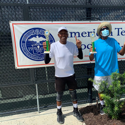 Men's 70 & Over doubles champions. Nelson, Charles / Griffin, Richard