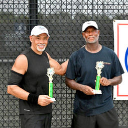 Men's 60 and over doubles champions:  House, Tony/ Gainey, Larry