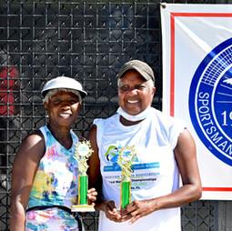 Women's 70s  & Over doubles finalist:  Azizi, Mildred / Hodge, Cecelia
