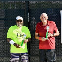 Men's 80s & Over doubles Champions:  Bush, Arthar / Harris, Ralph