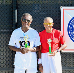 Men 80s & Over doubles finalists:Baker, George / Wimberly, A
