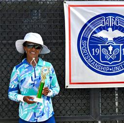 Women's 55 & Over singles champion: