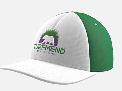 Green and White TurfMend Hat