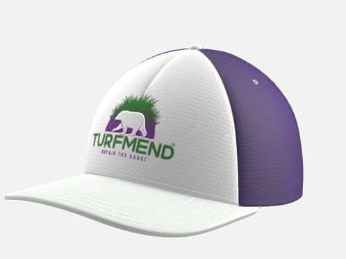 Purple and White TurfMend® Hat