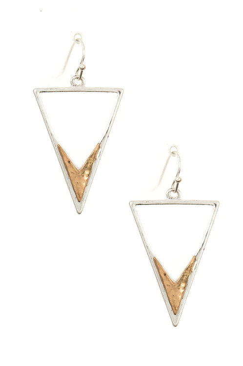 Triange Cut Out Dangle Earring Set