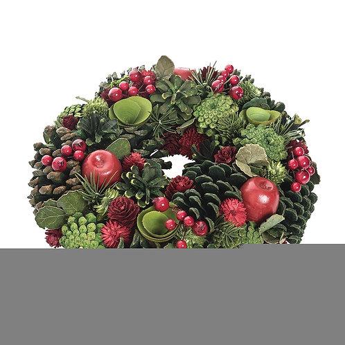 Apple Berry Wreath