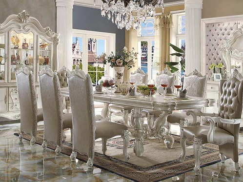 Versailles Dining Table & Chairs (9pc) Set