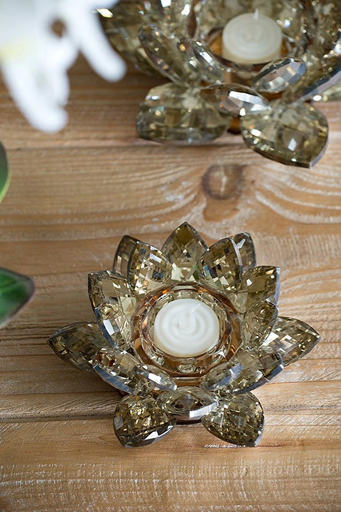 Small Lotus Candle Holders S/2