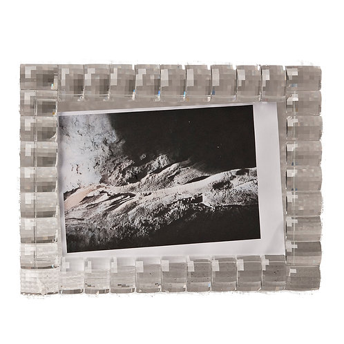 Glass Photo Frame Silver Finish
