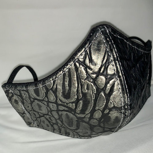 Embossed Leather Face Mask