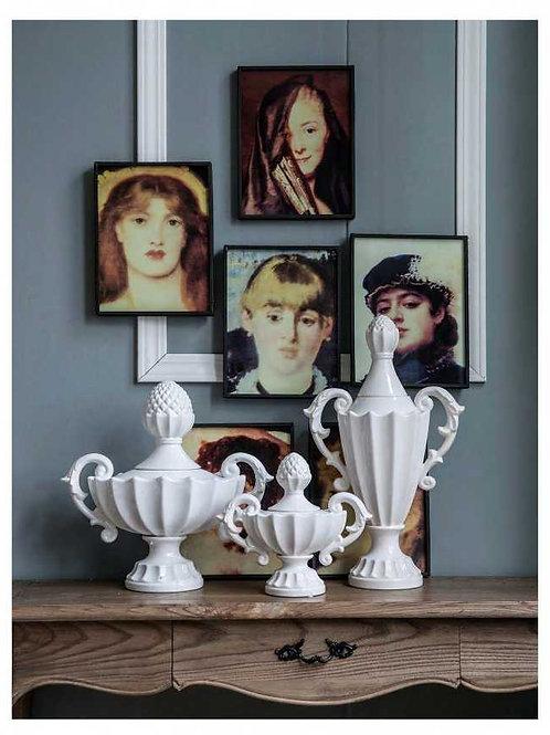 Nera Porcelain Decorative Handled Vase