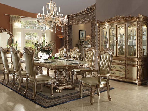 Vendome Dining Table Set 9pc