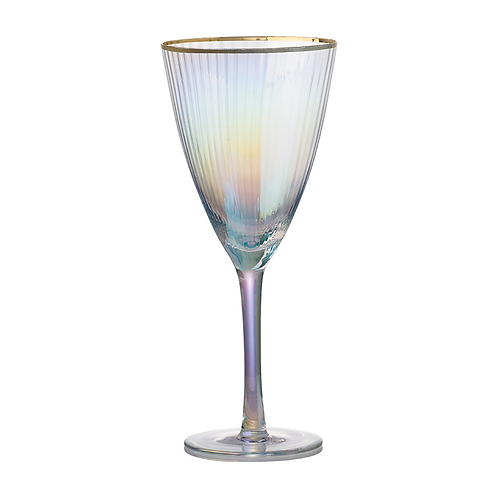 Iridescent Wine Glass S/4
