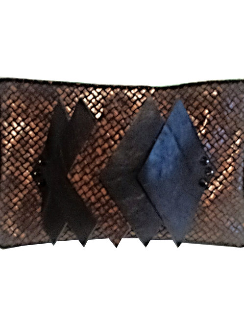 Burnished Leather Clutch