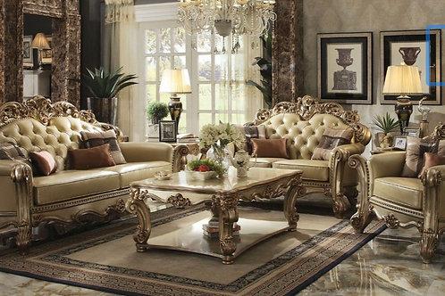 Gold Patina/Bone, Sofa/Loveseat & Chair