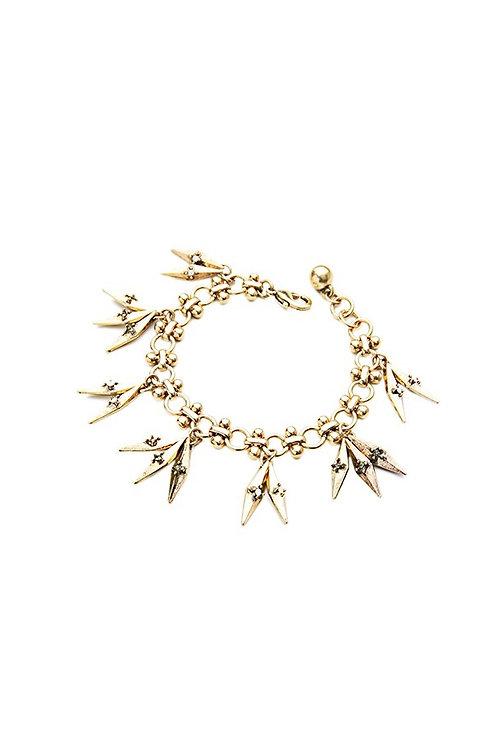 Taylor Vintage Goldtone Charm Bracelet