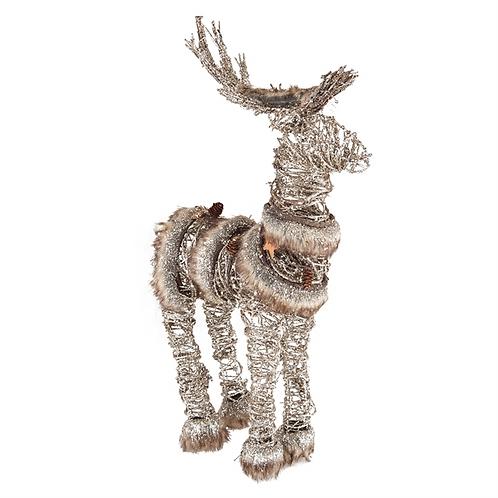 Fur Trim Deer Fiqure