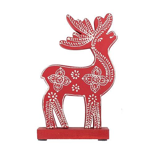 Small Red Northland Deer Figurine