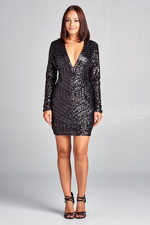 Sequin Short Cocktail Dress