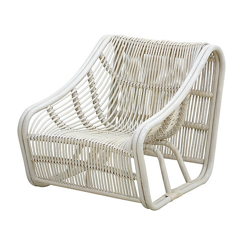 Rattan Wood Accent Chair
