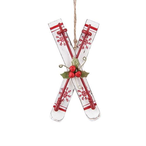 Nordic Ski Ornament