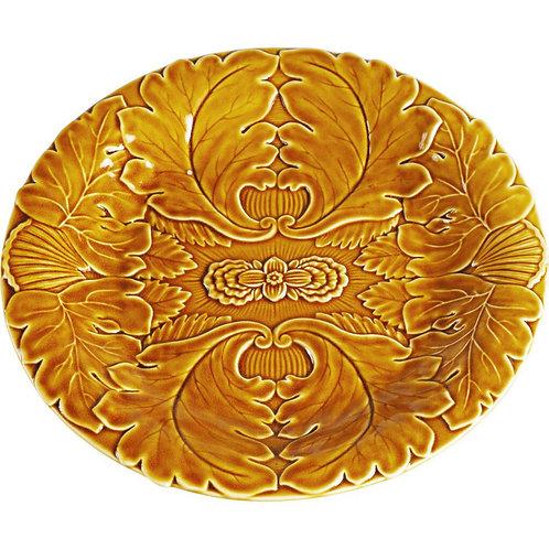 Brown Leaves Plate