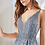 Thumbnail: V-Neckline Glittered Sleeveless A-Line Dress