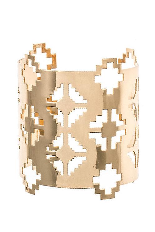 Gold Cut Out Cuff Bracelet