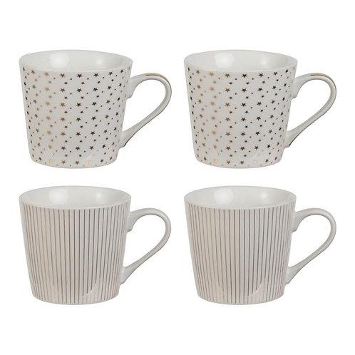 Gold Stars & Stripes S/4 Mug