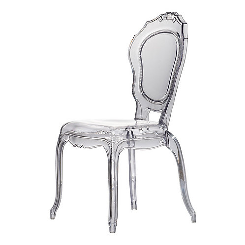 Chair, Clear Set of 2